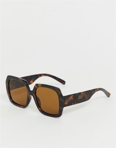 Mango oversized square sunglasses in tortoiseshell
