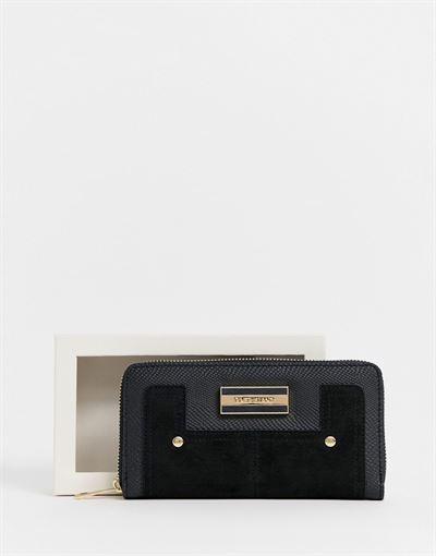 River Island zip around purse in black
