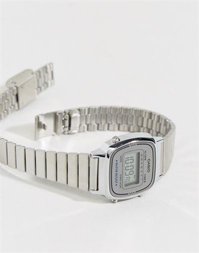 Casio LA670WEA-7EF silver mini digital watch