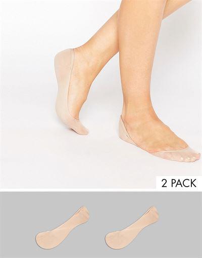 ASOS DESIGN 2 pack invisible socks