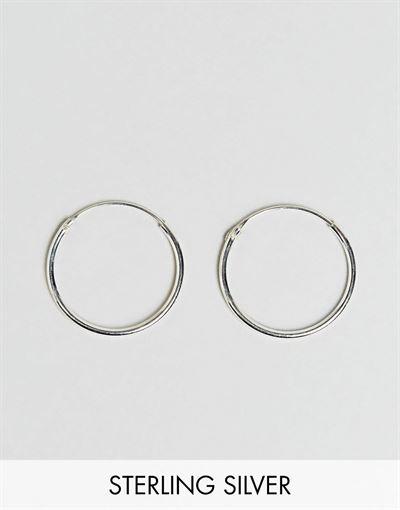 Kingsley Ryan sterling silver 20mm fine hoop earrings